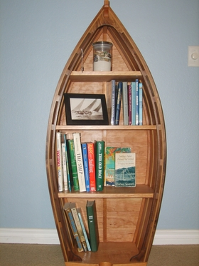 This Walnut And Cherry Boat Bookshelf Is Beautiful Timeless Currently For Sale Please Contact Us Price